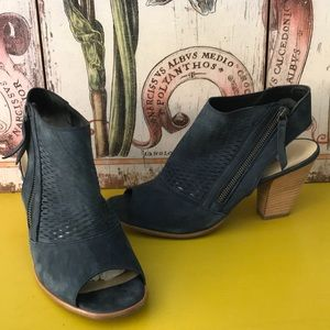 PAUL GREEN WILLOW NAVY SUEDE US SZ 10GOOD COND